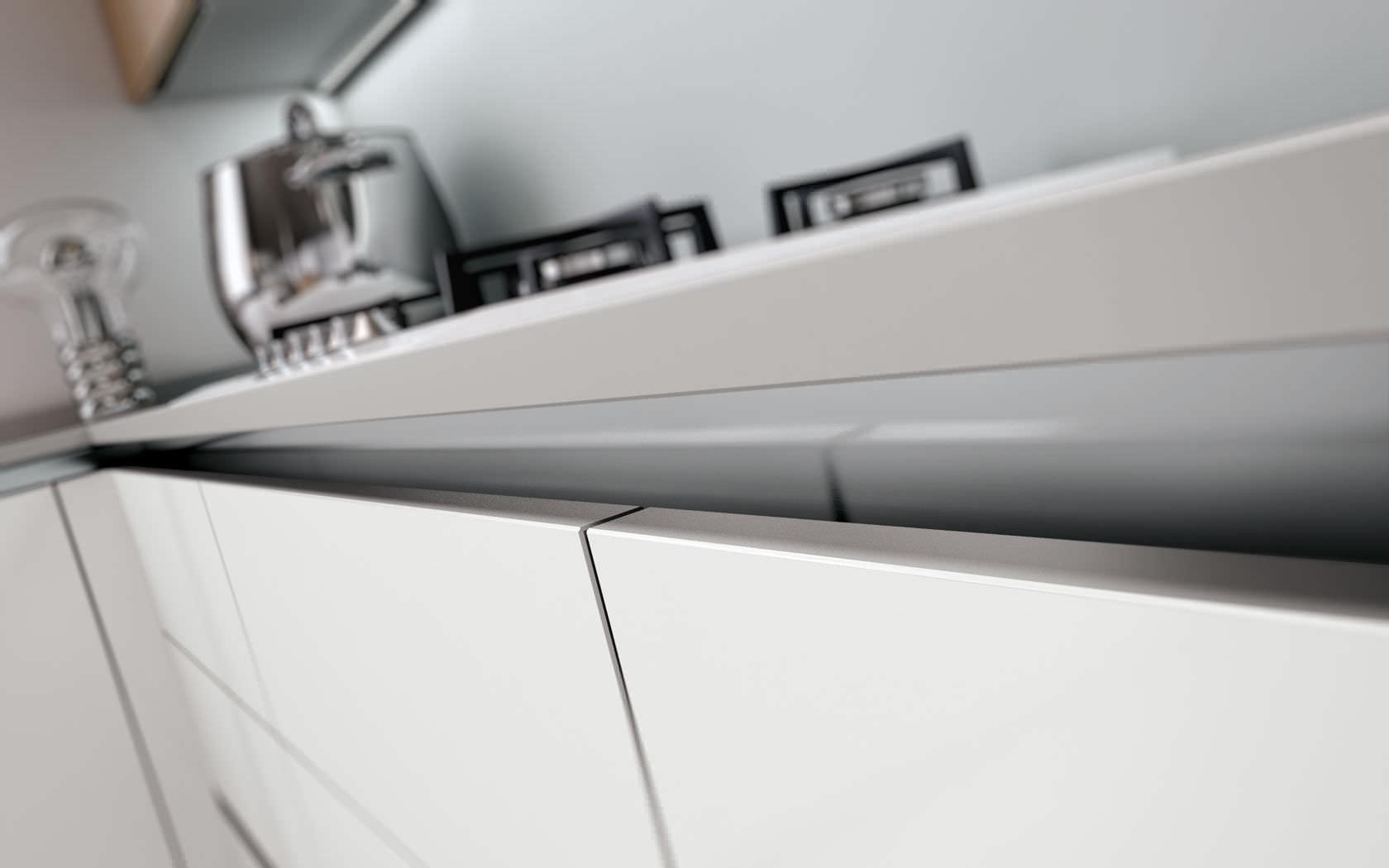 Cucina moderna / in legno / laccata - TECNIKA PURA - Lineaquattro