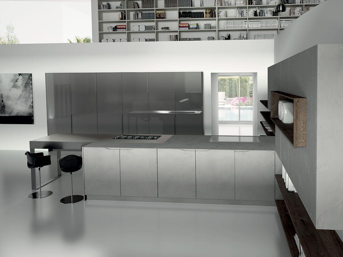 Cucina moderna / in legno / con isola - SIGNUM ONDA - Lineaquattro