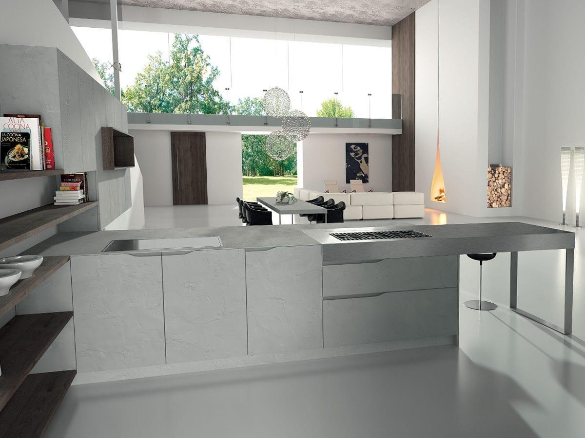 Piano di lavoro in acciaio inox / da cucina - SIGNUM ONDA - Lineaquattro