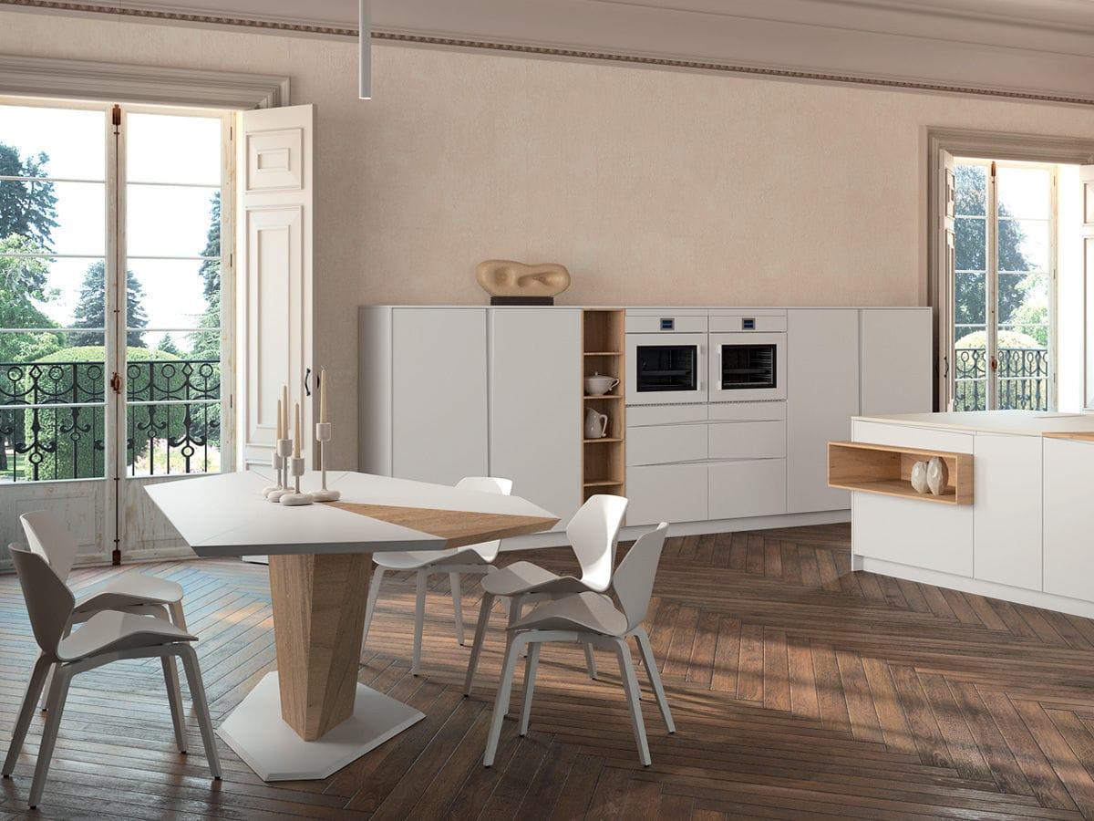 Cucina moderna / in legno / con isola / laccata - SIGNUM FLAG ...
