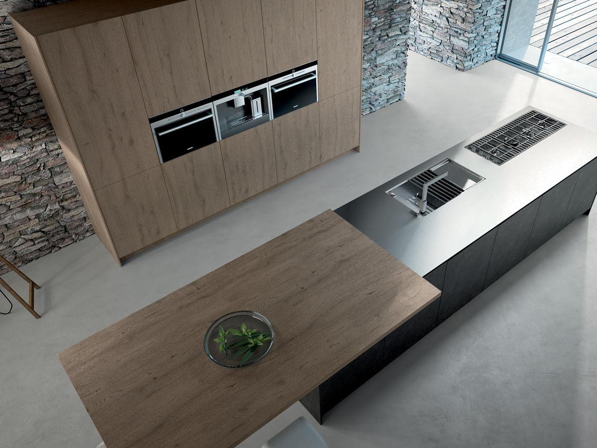 Cucina moderna / in legno / con isola / laccata - SIGNUM QUADRA ...
