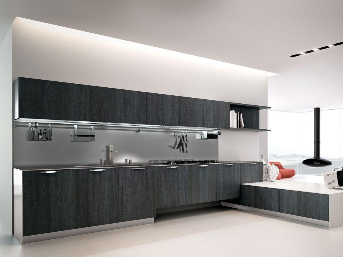 Cucina moderna / impiallacciata in legno / laccata - START REGULA ...