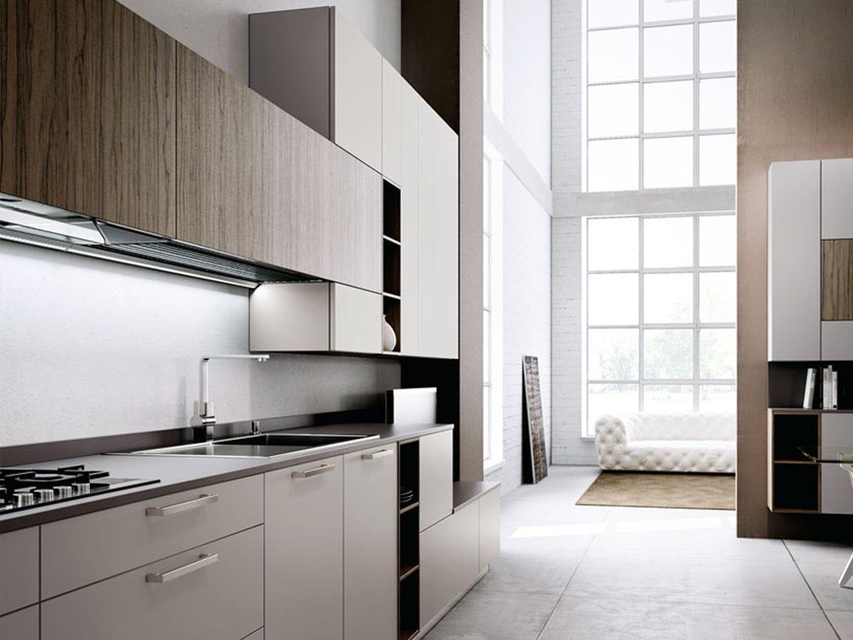 cucina moderna in laminato laccata tecnika regula lineaquattro