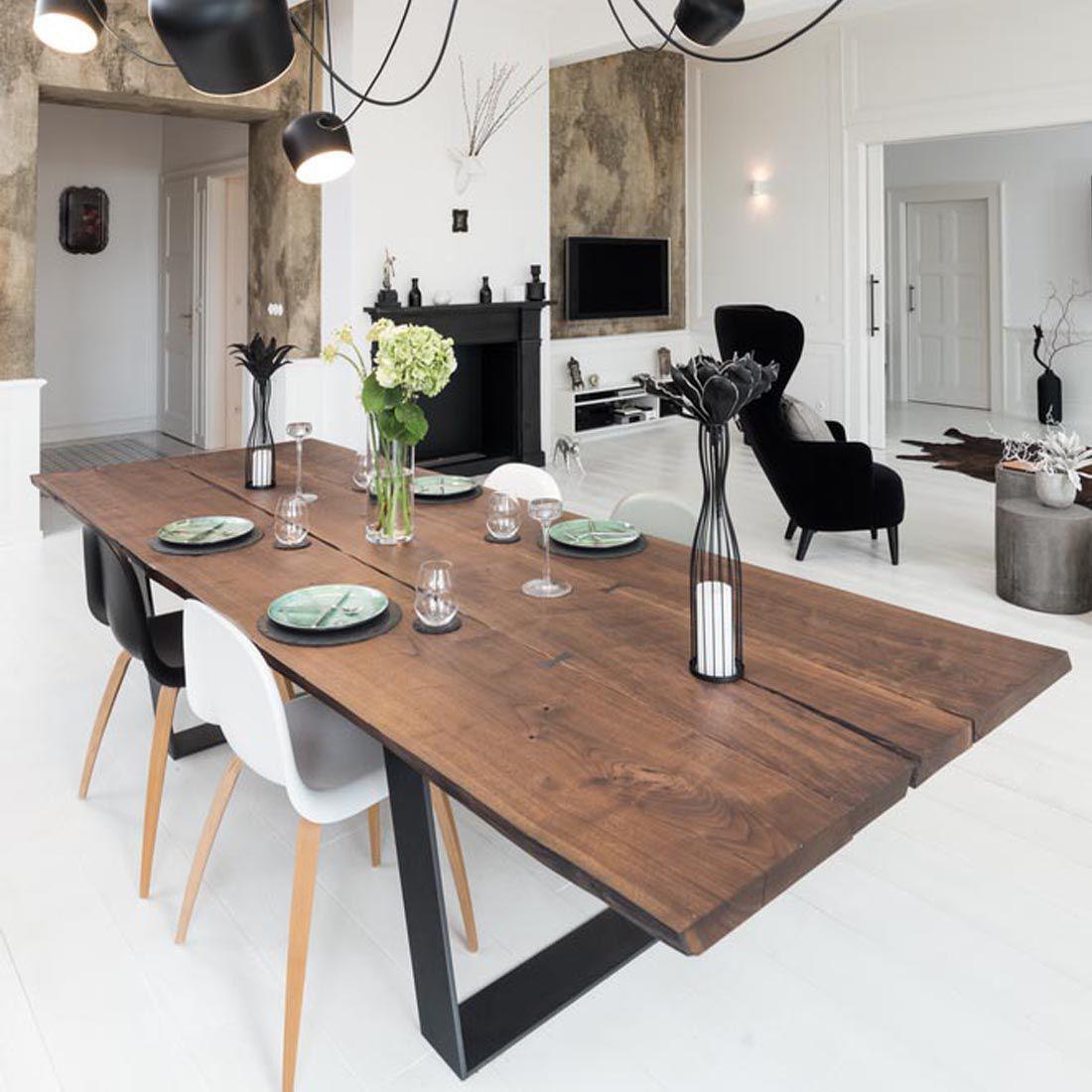 Tavolo da pranzo moderno / in quercia / in legno massiccio / in noce ...