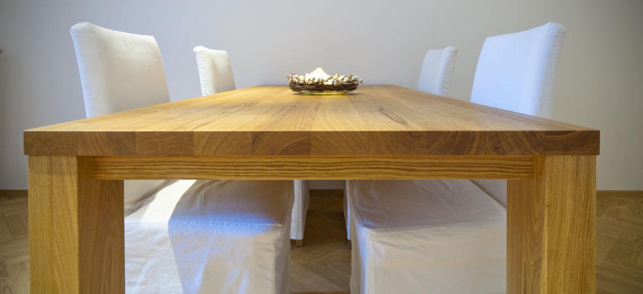 Tavolo da pranzo moderno / in legno / rettangolare - LUGI