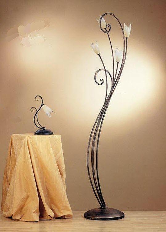 Lampada da terra / classica / in bronzo / da interno - CLARA : 010 ...