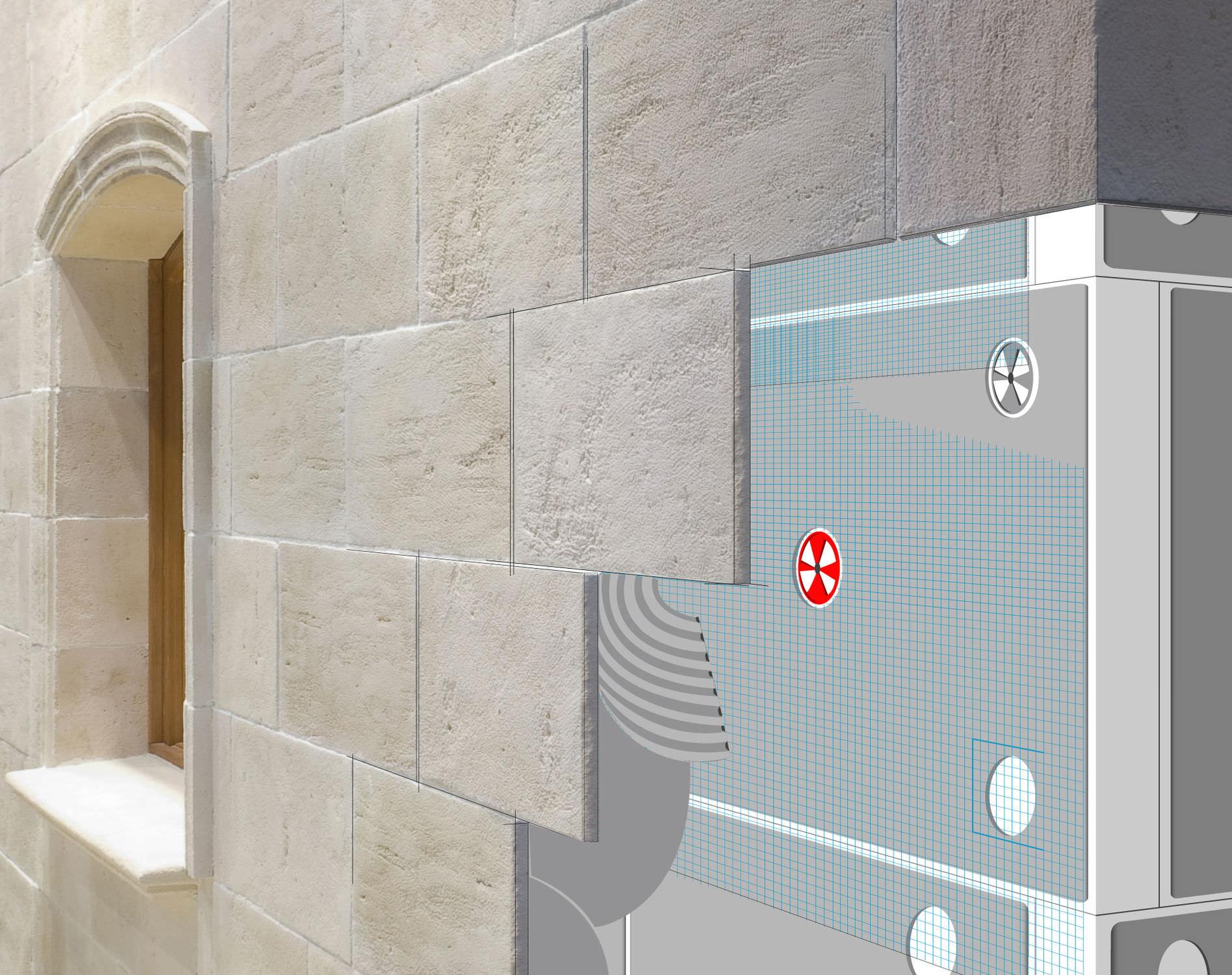 Isolante termico in polistirene espanso pse per muro divisorio