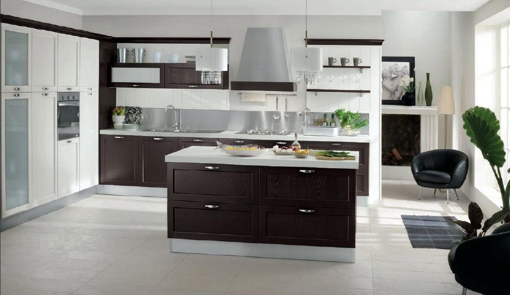 Cucina moderna / in legno / con isola / con impugnature - CHIARA 04 ...