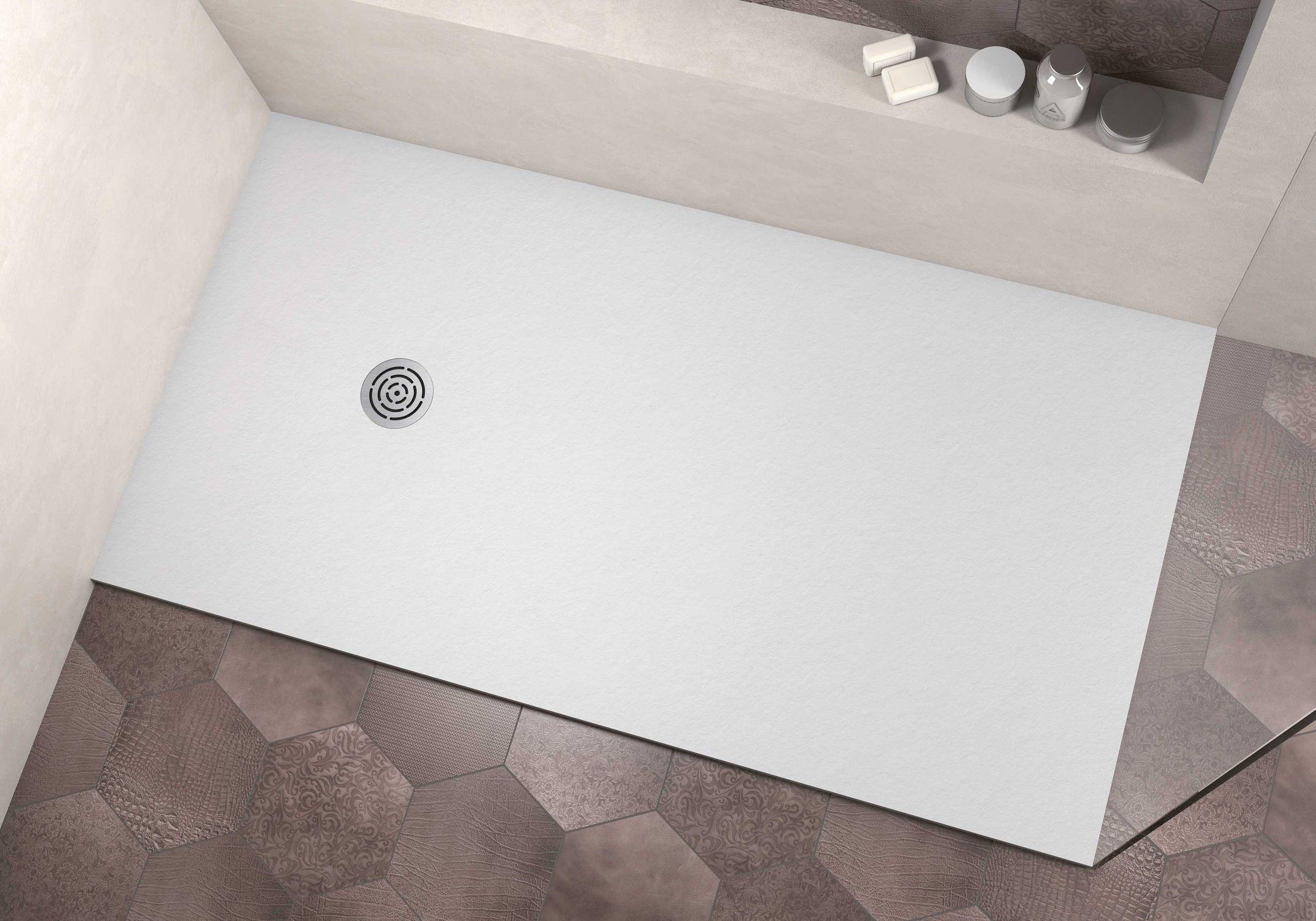 Piatto doccia rettangolare / in Solid Surface / rasoterra - NATURE ...