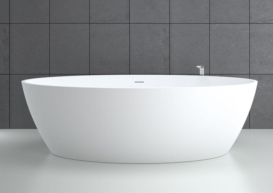 vasca da bagno da appoggio ovale in solid surface idromassaggio space 180x85 hidrobox