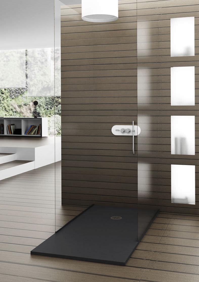 Piatto doccia rettangolare / in Solid Surface / rasoterra / su ...