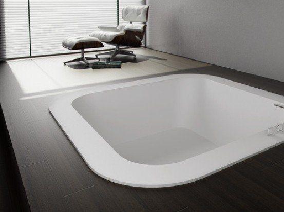 Vasca Da Bagno Ad Incasso Prezzi : Vasca da bagno quadrata in acrilico idromassaggio per
