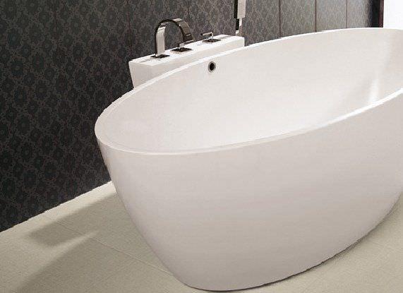 Vasche Da Bagno Prezzi E Dimensioni : Vasca da bagno da appoggio ovale in solid surface space 155x78