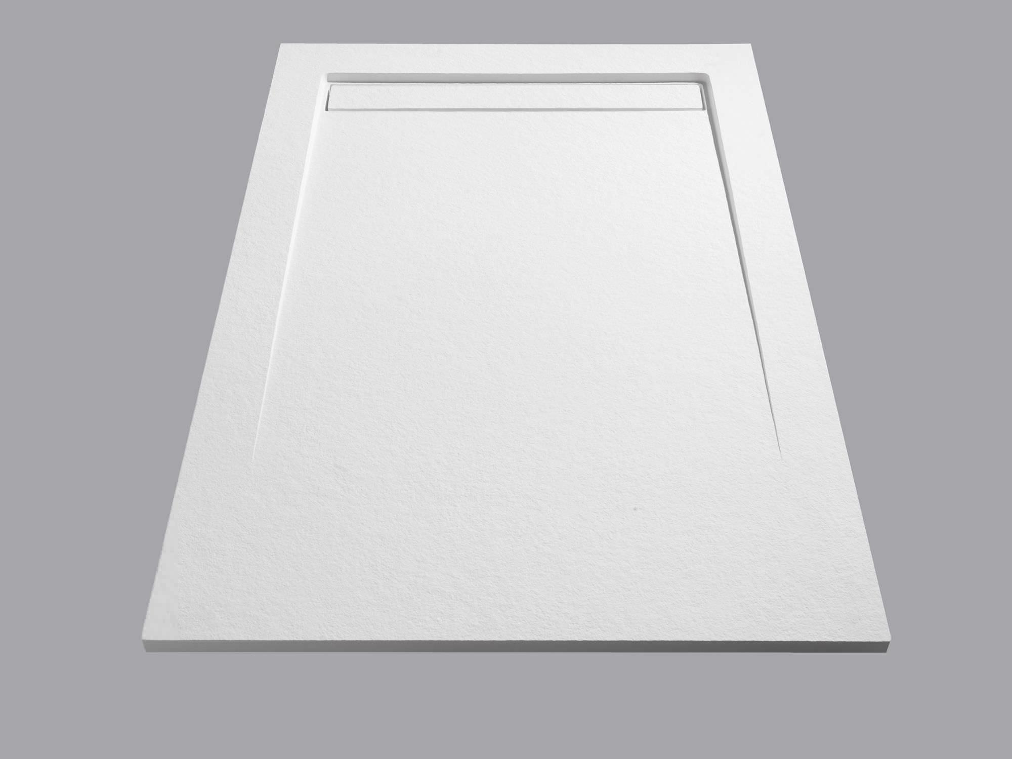 Piatto doccia rettangolare in solid surface rasoterra su