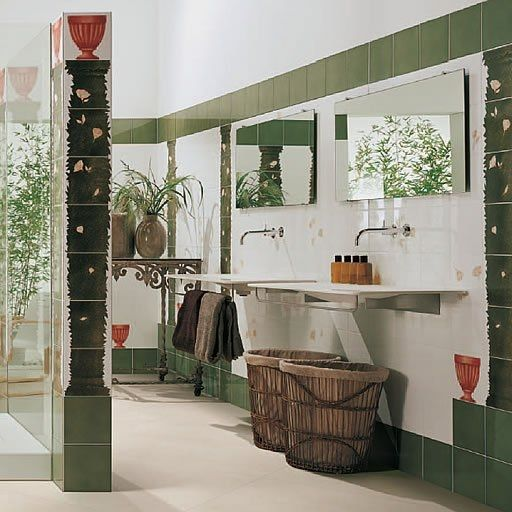 piastrella da bagno da parete in ceramica motivi natura allegro by davide pizzigoni