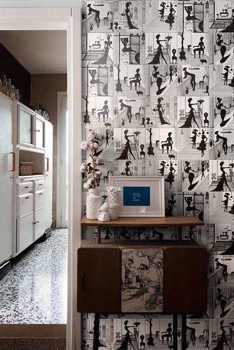 piastrella da bagno da parete in ceramica motivo con scena isabel by ruben