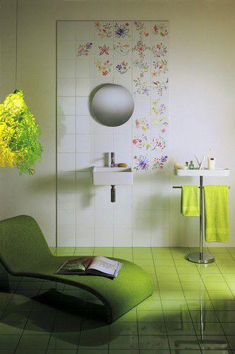 piastrella da bagno da pavimento in ceramica motivi floreali primavera colore by tord