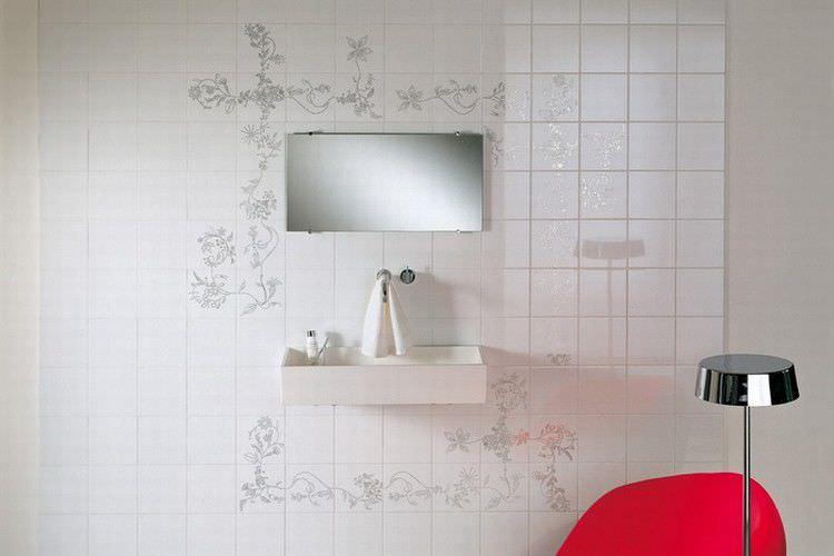 piastrella da bagno da pavimento in ceramica motivi floreali primavera platinum by tord