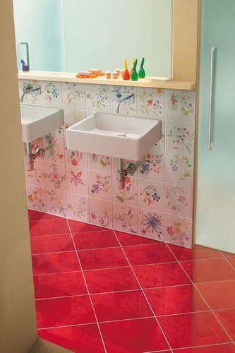 piastrella da bagno da pavimento in gres porcellanato a tinta unita onde ceramica