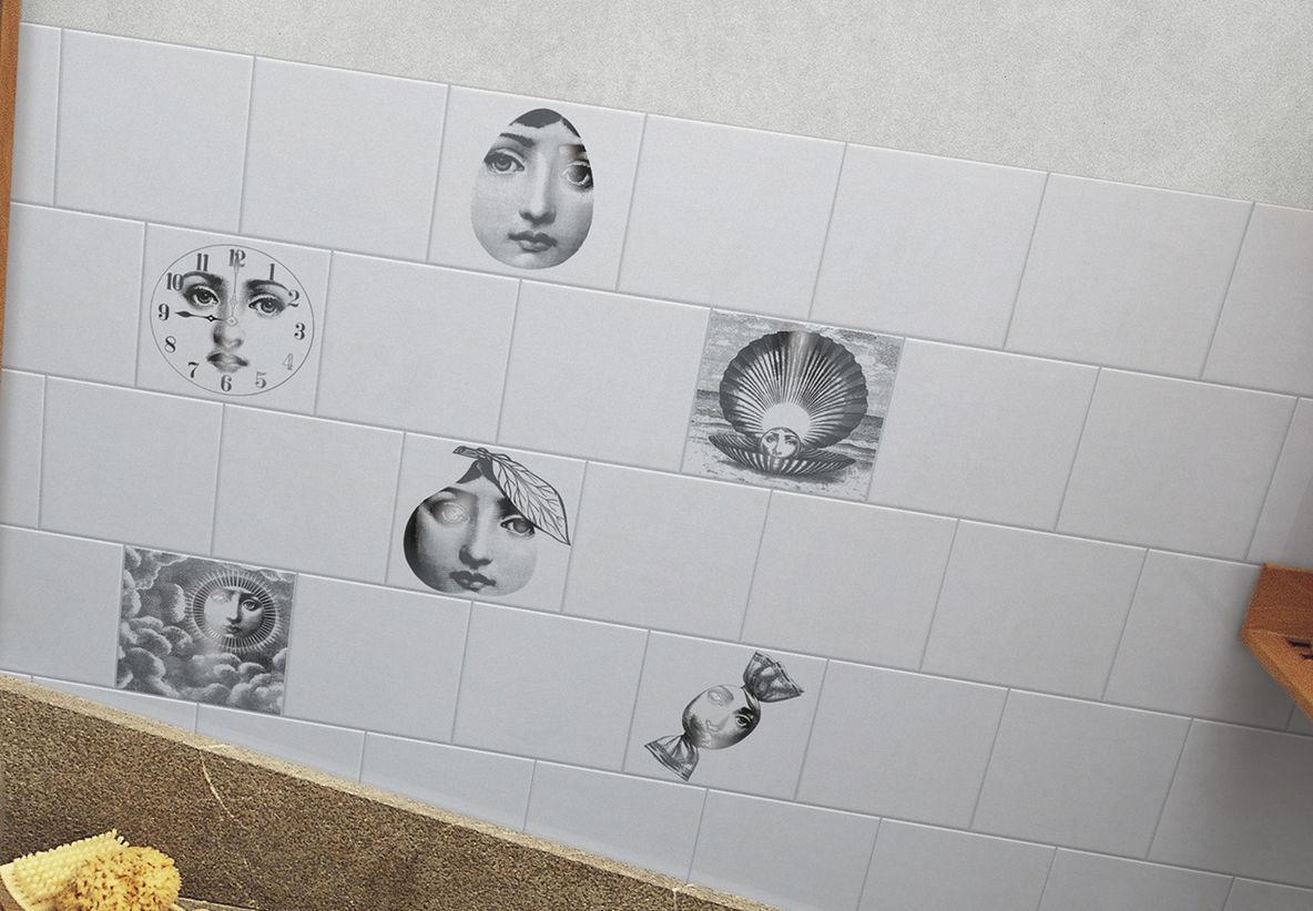 Piastrella da bagno da parete in ceramica con scene tema e