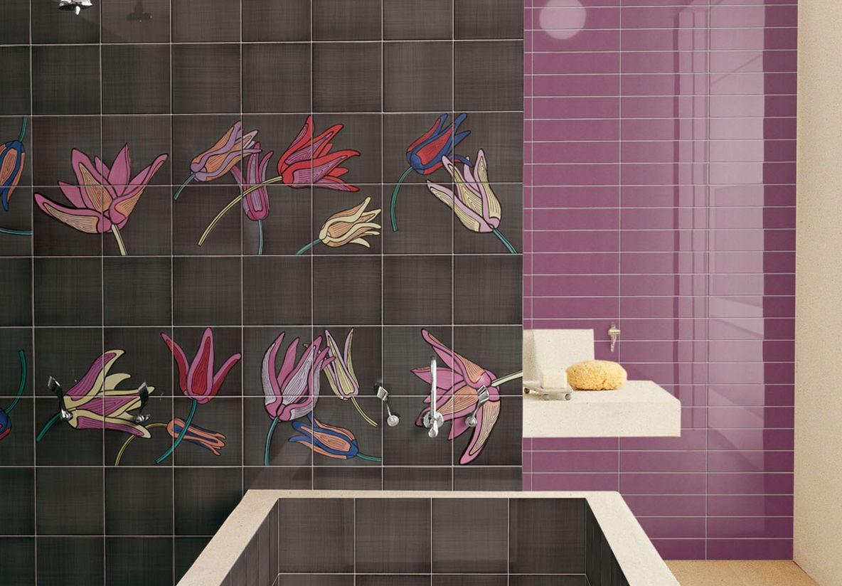 piastrella da bagno da pavimento in ceramica motivi floreali tuli pop 2