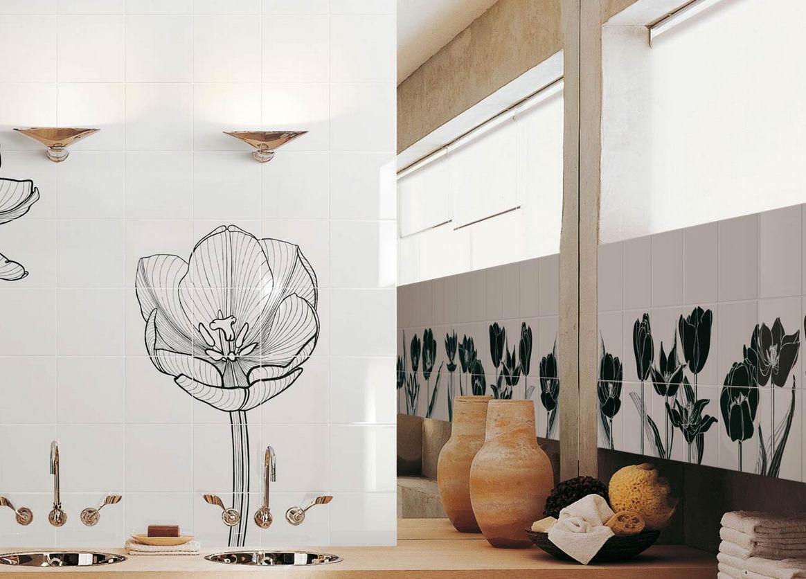 Piastrelle bagno con motivi floreali u idee immagine mobili