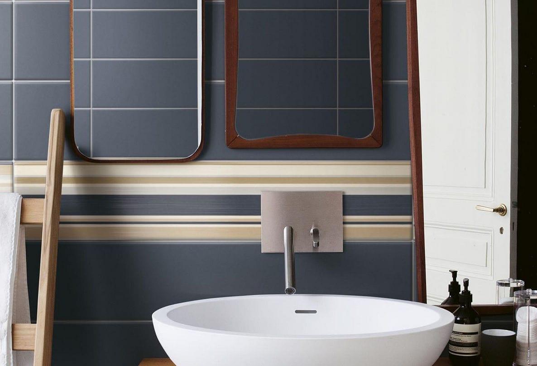 piastrella da bagno da parete in ceramica a righe layers ceramica bardelli