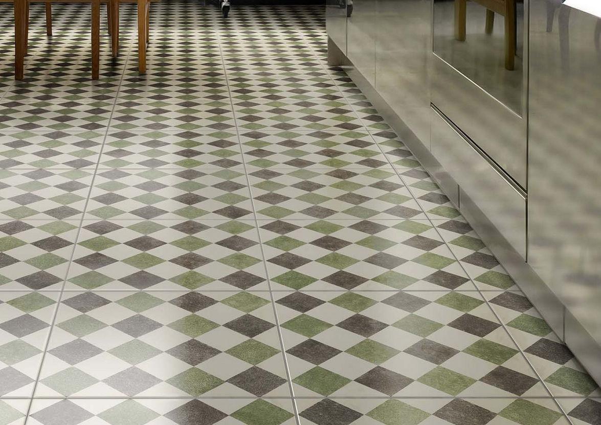 Piastrella da bagno da pavimento in ceramica motivo geometrico
