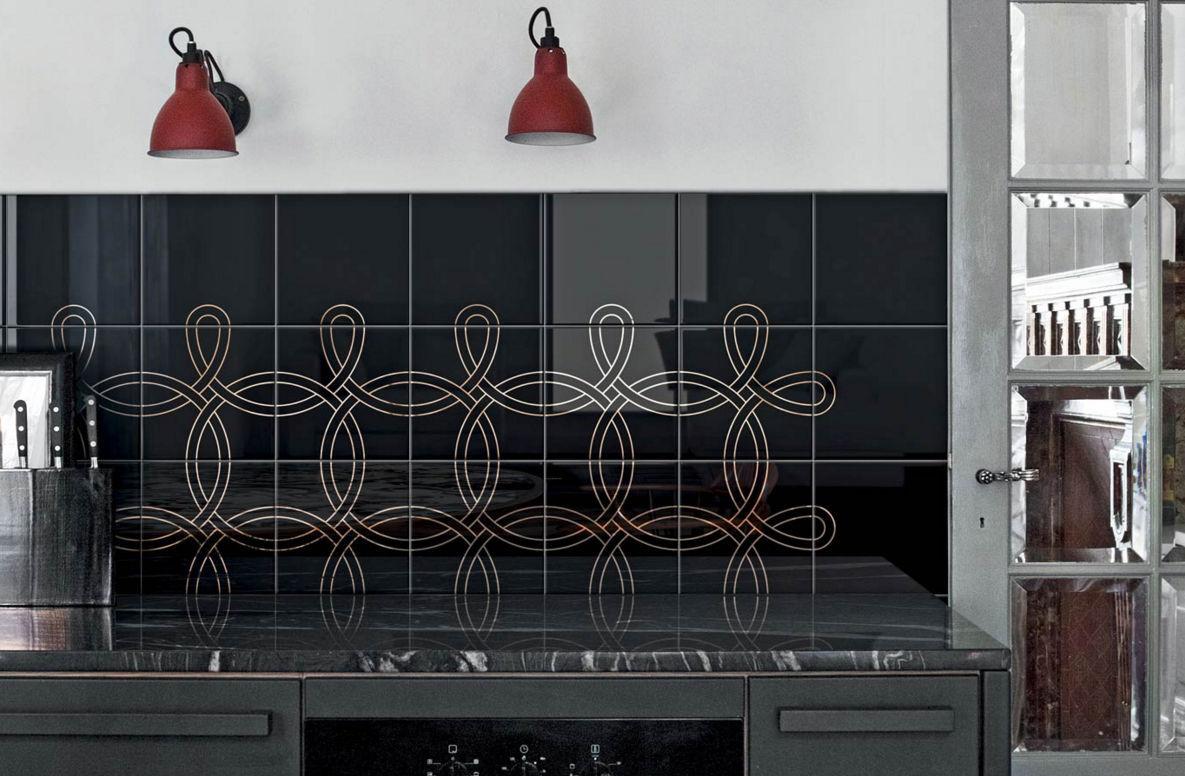 Piastrella da cucina da parete in ceramica motivo geometrico