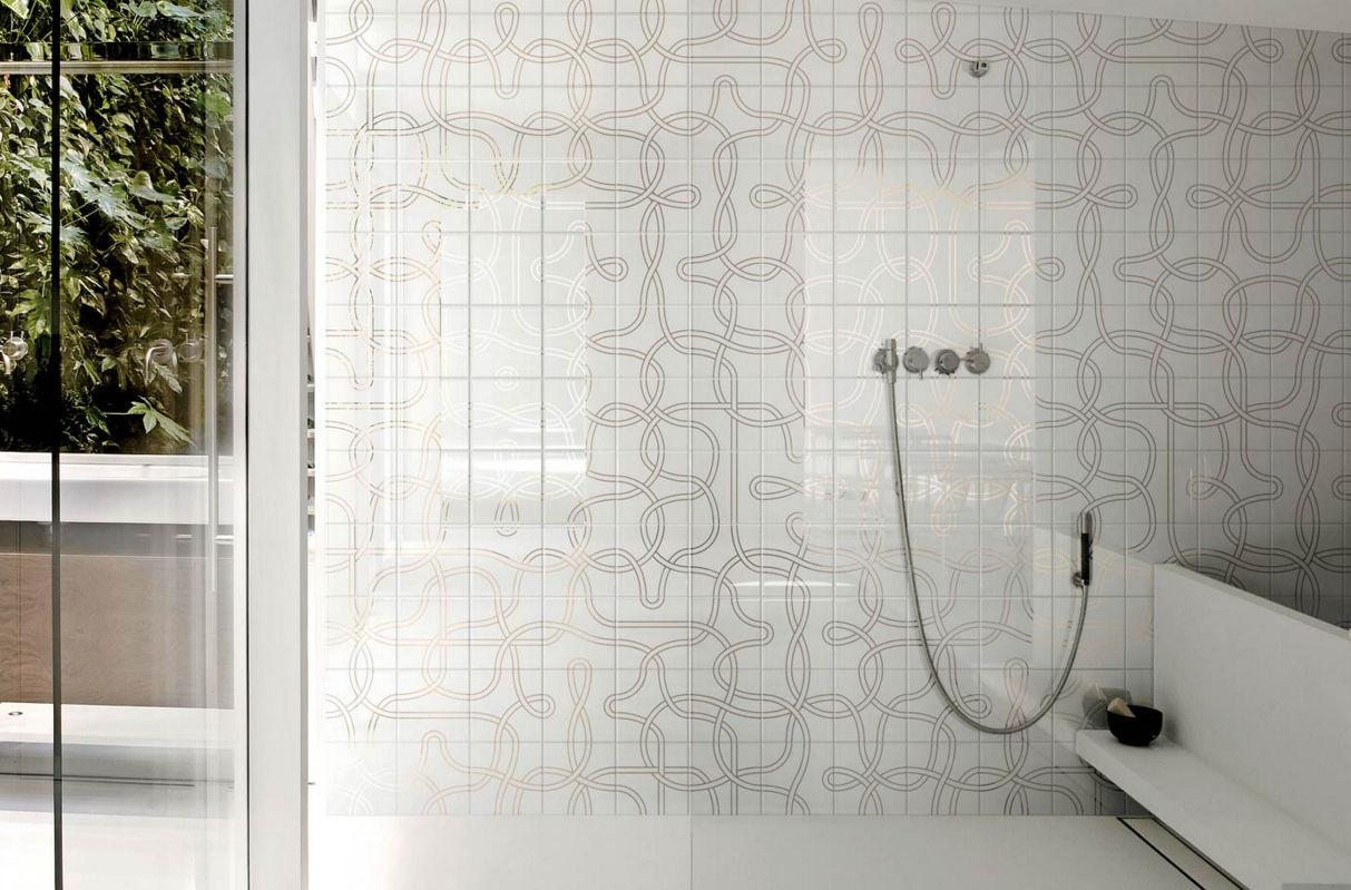 Piastrella da cucina / a muro / in ceramica / motivi geometrici ...