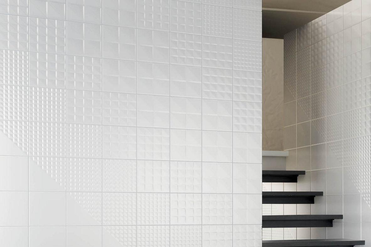 Piastrella da bagno da parete in ceramica geometrica tekne