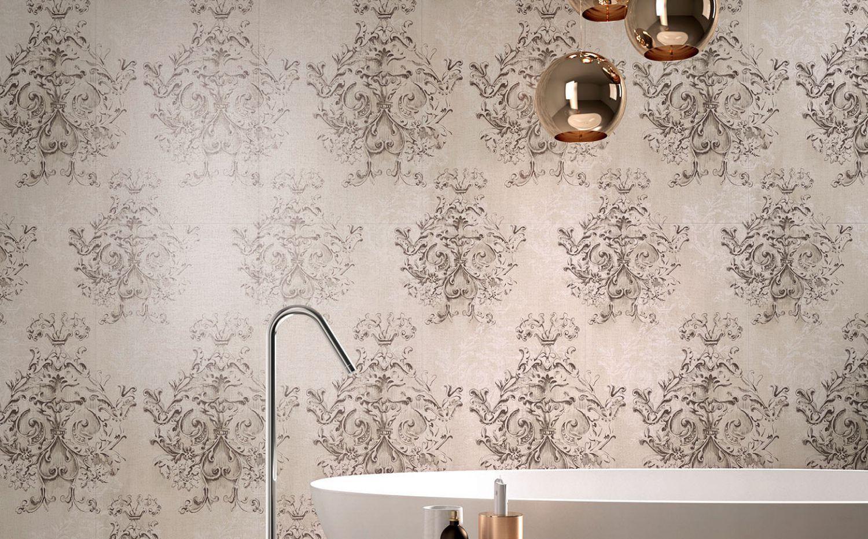 Piastrella da interno da parete in gres porcellanato damasco