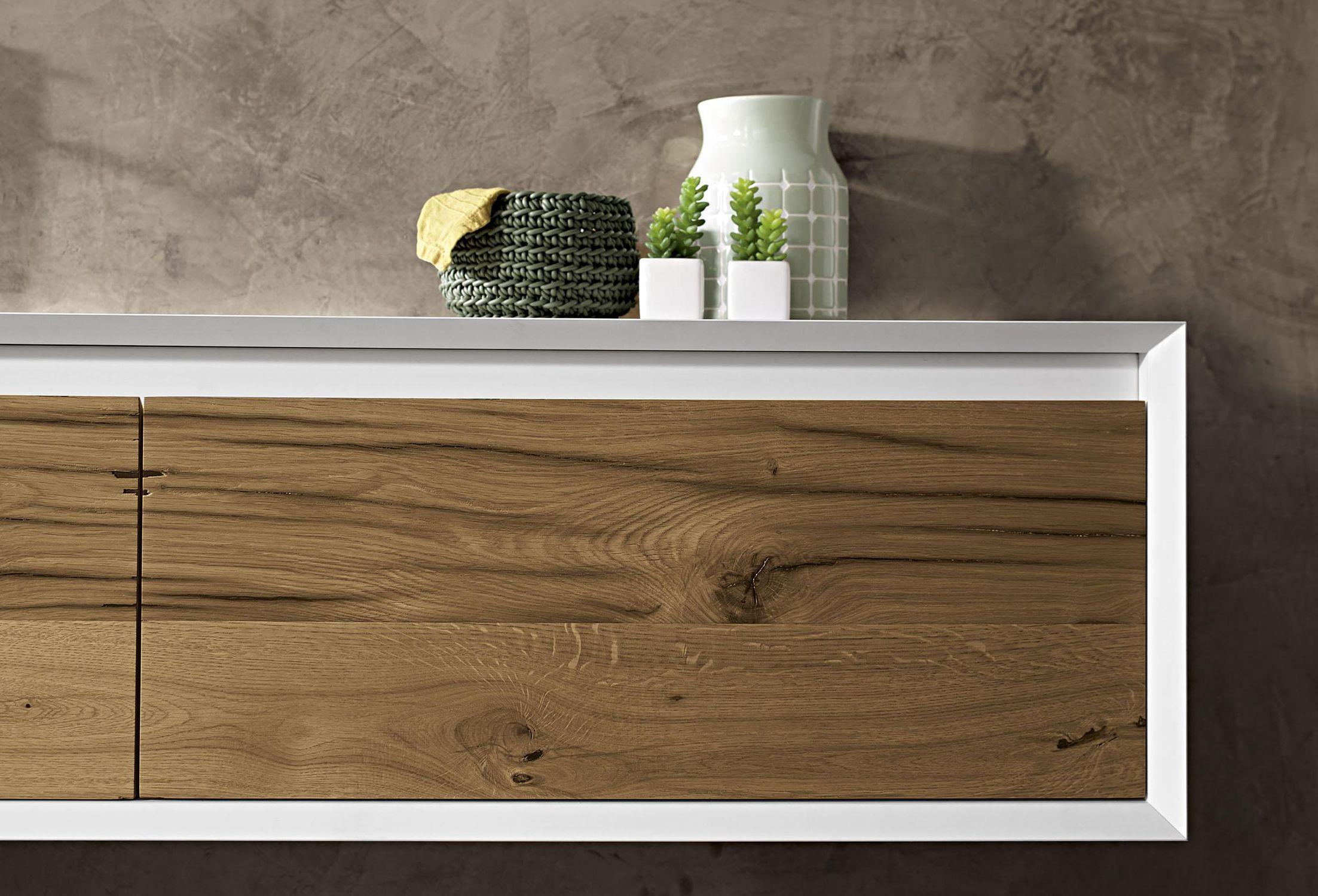Mobile lavabo sospeso / in quercia / in legno massiccio / in noce ...