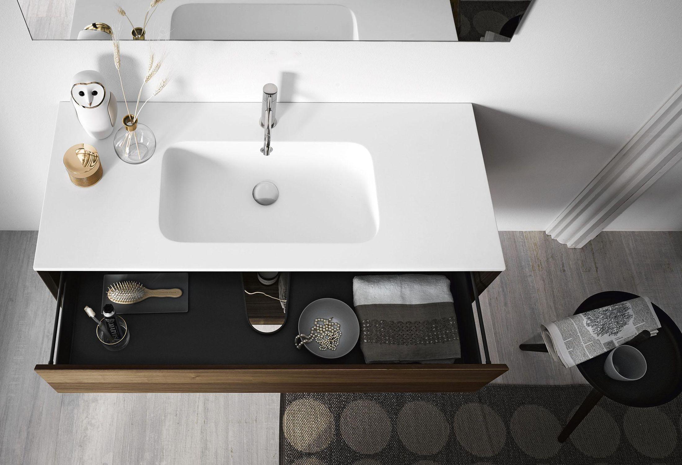 mobile lavabo sospeso / in quercia / in legno massiccio / in noce ... - Arredo Bagno Stocco