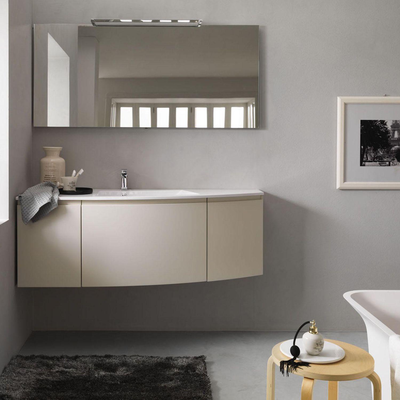 Mobile lavabo sospeso / in legno / moderno / con specchio - ARCO - F ...