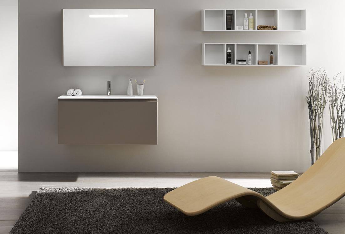 Mobile lavabo sospeso / in legno / moderno - 51.5 - F.lli Stocco s.r.l.