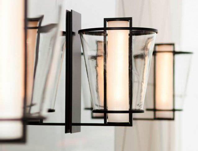 Lampade per esterno in ferro battuto unico lanterna quadrata ferro