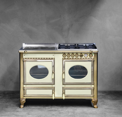 Blocco cucina a gas / elettrico / con doppia alimentazione / a legna ...