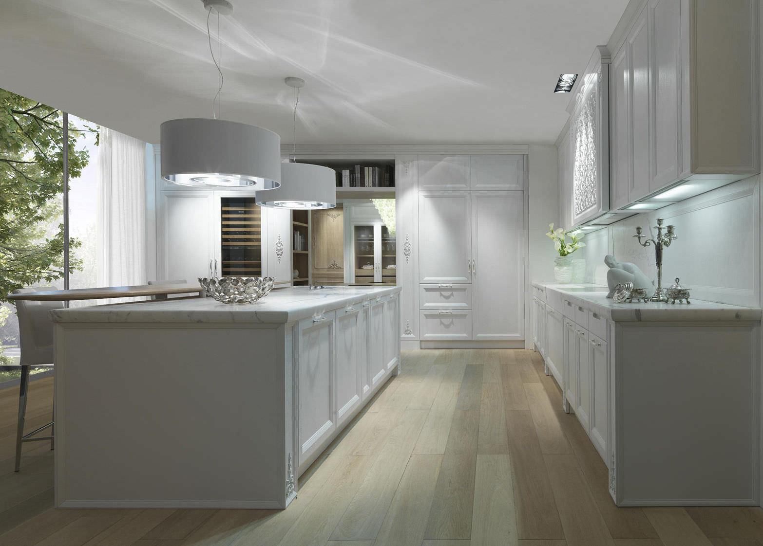 cucina moderna in marmo impiallacciata in legno princess cashmere