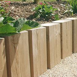bordure in legno da giardino