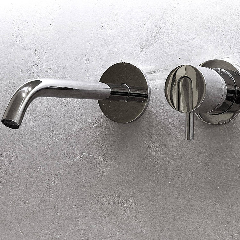 Miscelatore per lavabo / da parete / in acciaio inox / da bagno ...