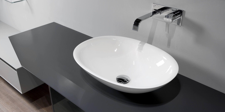 Lavabo da appoggio / rotondo / in composito / moderno - SERVO ...