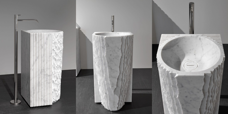 Lavabo da terra / in marmo / moderno - CONTROVERSO® by Paolo Ulian ...
