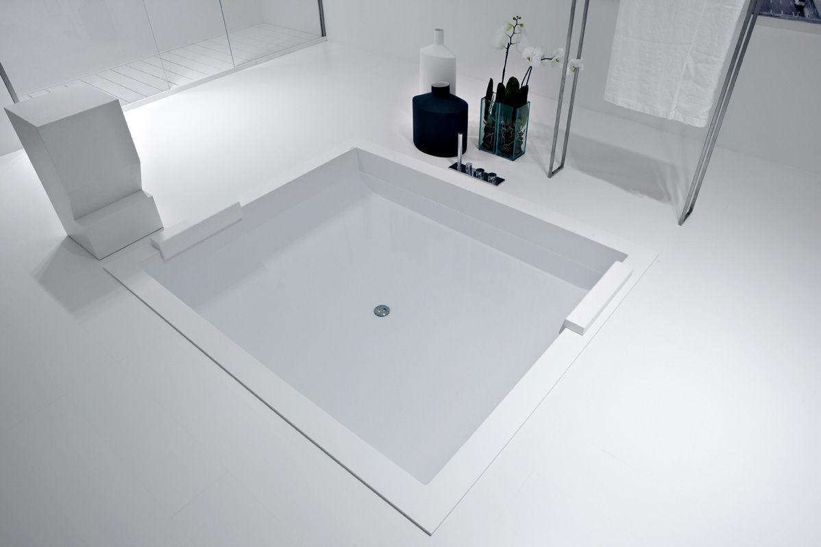 Vasca Da Bagno Rialzata : Vasca da bagno da appoggio da incasso in corian con