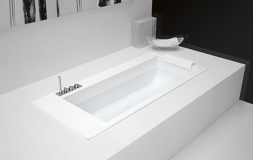 Vasche Da Bagno Corian Prezzi : Vasca da bagno da appoggio da incasso in corian® con