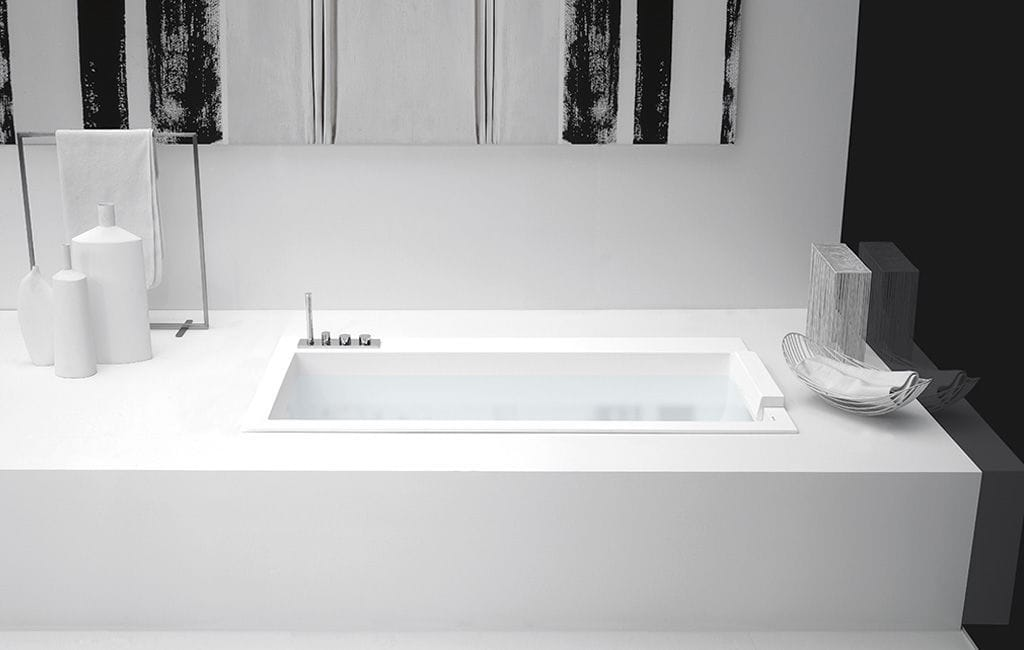 Vasche Da Bagno Da Incasso : Vasca da bagno da appoggio da incasso in corian con