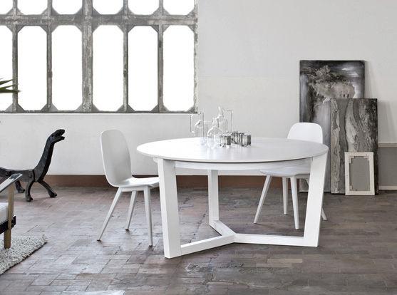 Tavoli rotondi allungabili moderni tavoli da soggiorno allungabili ...
