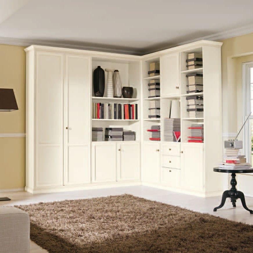 Libreria ad angolo / classica / in legno - OPERA - Corazzin Group ...