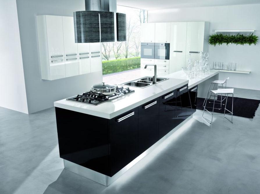 cucine moderne nere cucina moderna in legno con isola lucida smile