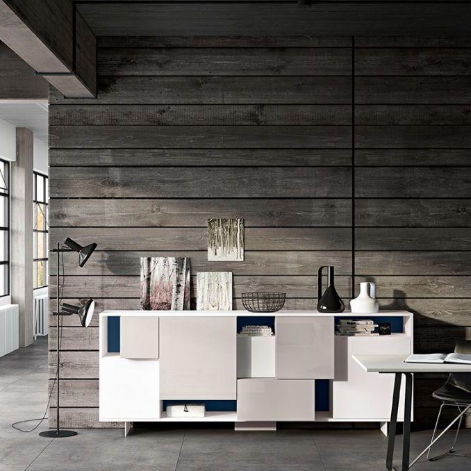 Credenza moderna / in legno laccato / bianca - PLAY - Morassutti ...